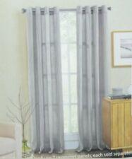 Weston 84-Inch Grommet Top Window Curtain Panel in Light Grey