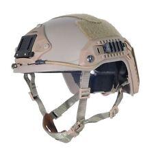 AIRSOFT OPS TAN SAND DE SWAT TACTICAL MARITIME ABS HELMET JUMP RAIL L/XL