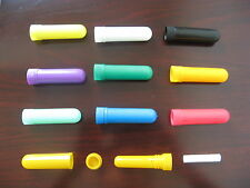 15sets blank nasal inhaler 4part white purple blue green yellow red pink orange