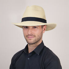 Natural Toast Panama Size 61 Fedora Trilby Hat Summer Sun Races Christmas Party