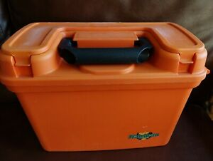 Flambeau Outdoors Products orange tackle box top storage tray and side hinge '80