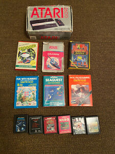 Atari 2600 Manuals 42 Boxed Games X 2 Joysticks Lot Frogger Woody