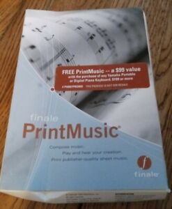 Finale Print Music Program New In Sealed Box old stock 2006 edition