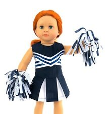 """Navy Blue Cheerleader Fits 18"""" American Girl Doll Clothes"""