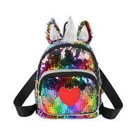 Cool Unicorn Boys Girls Bling Sequin Backpack Toddlers Shoulder School Bag