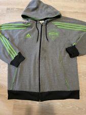 Adidas Seattle Sounders Zip Up Hooded Sweatshirt Large