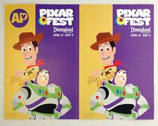 AP Disneyland PIXAR FEST Toy Story decal sticker Woody & Buzz Lightyear