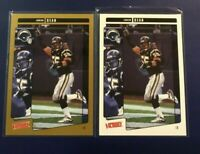 2001 UD Victory w Gold # 292 JUNIOR SEAU San Diego Chargers Lot 2 Nice LOOK !
