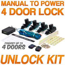 Central Car Power Door Lock Unlock Conversion Kit Auto Keyless Remote Key Fob