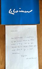 Painter Charles T. Coiner Autograph Letter Designer of FDR's NRA Blue Eagle