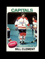 1975-76 Topps Hockey #189 Bill Clement (Capitals) NM-MT