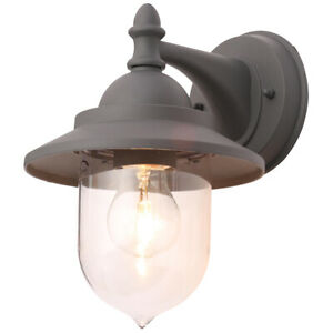 CGC Dark Grey Fisherman Outdoor Wall Light Vintage Lantern Coach Door Retro UK