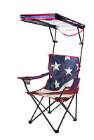 Adjustable Canopy Folding Shade American Flag Beach Camping Chair Shade Umbrella