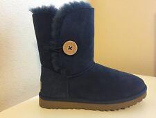 UGG Australia Bailey Button Boots 7 US 38 EU Suede Shearling BLUE Short # 5803