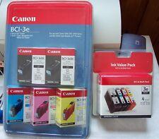 2 CANON BCI-3e Multi-Paks. 3 Black, 2 Cyan, 2 Magenta, 2 Yellow. Canon Printers
