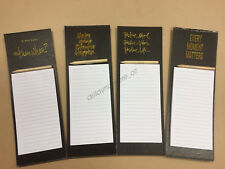 Fridge Magnetic Shopping & Things To Do List Pad Set Includes Pencil 40Pages