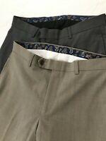 *LOT OF 2* Lauren Ralph Lauren 30 x 30 Gray / Beige Flat Front Dress Pants