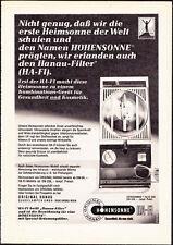 3w2548/ Alte Reklame von 1968 - Original Hanau Quarzlampen GmbH
