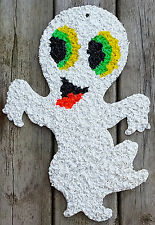Vintage Melted Plastic Popcorn Halloween Spooky Ghost Friendly Casper Decoration