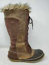 Sorel Cate The Great Womens Snow Boots Size 7 Brown Leather Waterproof Shoes