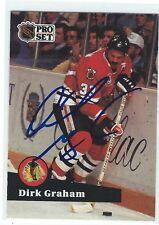 Dirk Graham Signed 1991/92 Pro Set Card #51