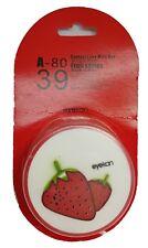 Funky Fruit Strawberry Coloured Contact Lenses Travel Kit Mirror Case Tweezers