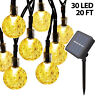 Solar String Light Outdoor 30 LED Powered Garden Path Yard Decor Lamp Waterproof