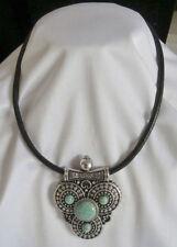 Turquoise Choker Tibetan Silver Costume Necklaces & Pendants