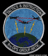 USAF 9th OPS GROUP ARTIC - TACTICS & INSTRUCTION RQ-4 UAV U-2 DOD SPY OPS PATCH
