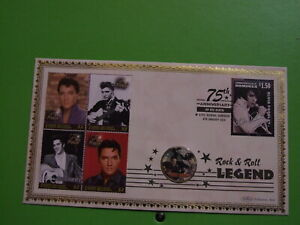 BENHAM COIN COVER USA HALF DOLLAR ELVIS PRESLEY LTD ED 50 OF 150. SEE POSTAGE
