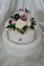 Artificial Flower Wedding , Anniversary, Cake Topper, Thistles, Hand-Crafted