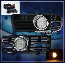 1999-2004 VW GOLF MK4 BUMPER YELLOW LED CLEAR LENS FOG LIGHT LAMP+GRILLE+HARNESS