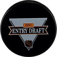 1991 NHL Draft Unsigned Draft Logo Hockey Puck - Fanatics