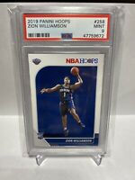 2019 Panini Hoops #258 Zion Williamson Pelicans RC Rookie PSA 9 MINT