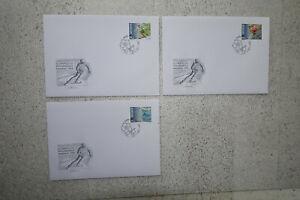 Briefumschläge mit Briefmarken aus Lichtenstein, Olympische Winterspiele 1998