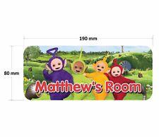 Teletubbies Door Plaque - Personalised Childrens Bedroom Sign Girls Boys