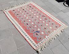 Turkish Kilim Rug 46'x63' Hand Woven Van Kilim 118x161cm