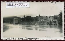 Cahors ( Lot )  quai Champollion  . photo ancienne . Juin 1946
