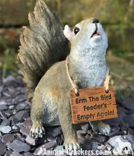 Bird Feeders Empty Squirrel lover gift garden ornament sculpture figurine boxed