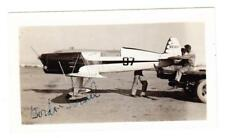 REAL PHOTO-EARLY PILOT GORDON ISREAL-HIS AIR PLANE,REDHEAD-AUTOGRAPH-