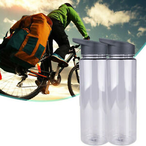 Water Bottle with Straw Plastic Free Leakproof Sport Portable Drinks Mug UK QN18