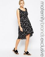 MAMALICIOUS MATERNITY 'MILLY' BLACK DITSY FLORAL WOVEN DRESS SIZE 12-14 BNWT £45