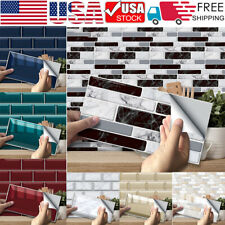 Up to 54PCS Self Adhesive Mosaic Tile 3D Sticker Kitchen Bathroom Wall Stickers