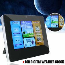 Digital Indoor & Outdoor Wireless Weather Station Calendar Thermometer Clock USB