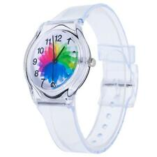 Kids Child Students Girls Boys Stainless Steel Sports Watch Rubber Wrist Watches