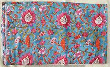 Fabrics Cotton Hand Block Printed Loose Decor 5 Yard New Indian Running Vintage