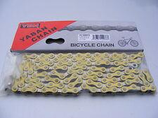 YBN Yaban Old School BMX Chain. Yellow & Silver for Vintage 1980s Old School BMX