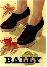 Original vintage poster BALLY SHOES LADIES FASHION c1945