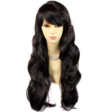 Wiwigs Beautiful Dark Brown Long Layered Way Skin Top Ladies Wig