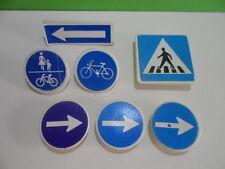 PLAYMOBIL – 7 panneaux bleus de signalisation / Sign / 4047 3004 3934 4043